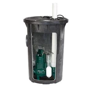 Zoeller 115V M264 Sewage Pump & Basin System Z9120007
