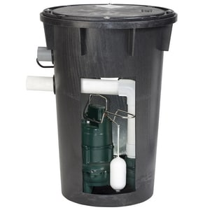 Zoeller 4/10 hp Sewage Pump & Basin System Z9120082