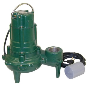 Zoeller Waste Mate 115V 1HP Sewage Pump With Variable Level Float Switch Z2700005