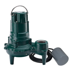 Zoeller Waste Mate 115V 1/2 HP Auto Sewage Pump With Variable Level Float Switch Z2670032