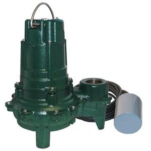 Zoeller Waste Mate 115V 1/2 HP Cast Iron Sewage Pump Variable Level Float Switch Z2660005