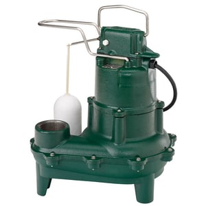 Zoeller Waste Mate 115V 4/10 HP Cast Iron Auto Sewage Pump Z2640001
