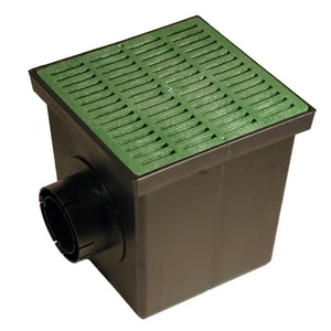 NDS 12 in. Catch Basin Kit with Grate in Green N1200GRKIT