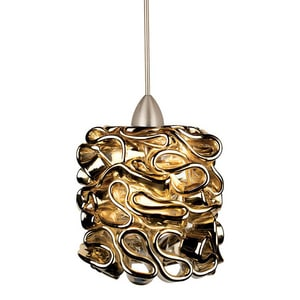 Candy CANDY GOLD PENDANT WITH BRUSHED NICKEL CANOPY WMP544GLBN