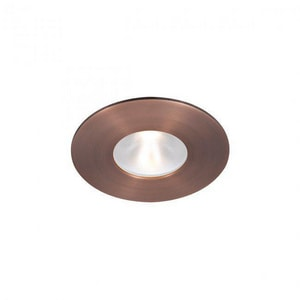 Tesla™ TESLA 2IN LED ENERGY STAR ROUND TRIM GLASS LENS WITH LIGHT ENGINE 3500K NARROW BEAM IN COPPER BRONZE WHR2LDET109N35CB