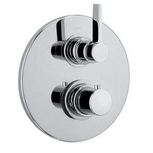 Fortis Brera 2-Outlet Diverter Thermostatic Shower Valve Trim in Polished Chrome F9269100PC