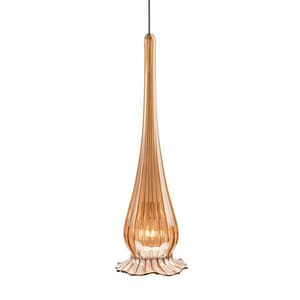 Lucia LUCIA GOLD IRIDESCENT PENDANT WITH BRUSHED NICKEL CANOPY WMP943GLBN