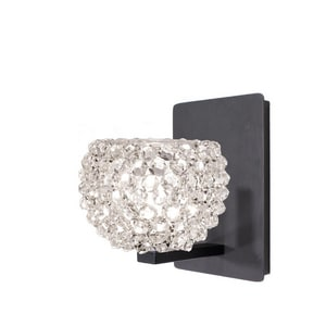 Gia GIA LED WALL SCONCE WITH WHITE DIAMOND CRYSTAL IN RUBBED BRONZE WWS58LEDG542WDRB