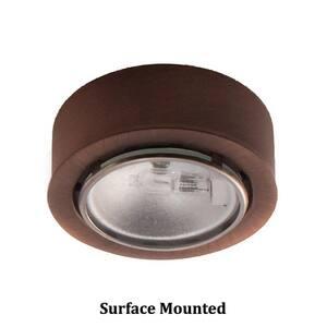 W.A.C. Lighting 1-Light 20W Under-Cabinet Button Light in Copper Bronze WHR86CB