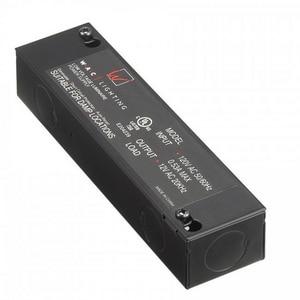 W.A.C. Lighting 6-1/2 in. 12/120V 150W Enclosed Electronic Transformer WEN12150RBAR