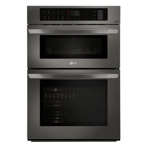 LG Electronics 29-3/4 in. 40A 6.4 cf Combination Wall Oven with Crisp Convection in Black Stainless LGLWC3063BD