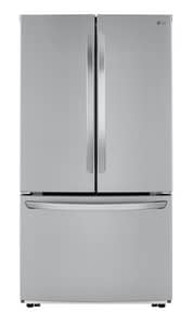 LG Electronics 15.5 cf Freestanding French Door Refrigerator in Printshield™ Stainless Steel LGLFCC22426S