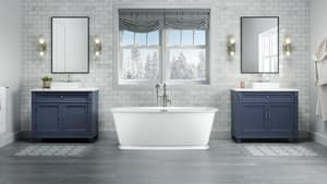 JACUZZI® Delicato™ 67 x 32 in. Freestanding Bathtub with Center Drain in White JDEF6732BCXXXXG