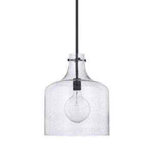 Capital Lighting Fixture HomePlace 100W 1-Light Medium E-26 Incandescent Pendant in Matte Black C325712MB