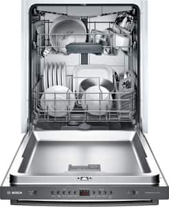 Bosch 100 Series 23-9/16 in. 12A 48dB 4-cycle Undercounter and Built-in Dishwasher in Black Stainless BSHXM4AY54N
