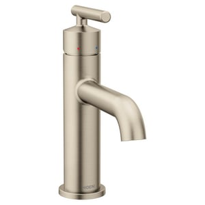 Moen Gibson™ Single Handle Monoblock Bathroom Sink Faucet in Brushed Nickel M6145