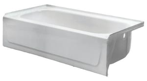 PROFLO® Rampart 60 x 32 x 16-5/8 in. Soaker Alcove Bathtub with Right Hand Drain in Biscuit PFB15CDRS36032BS