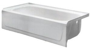 PROFLO® Rampart 60 x 30 in. Soaker Alcove Bathtub with Right Hand Drain in Bone PFB16CRS3BO