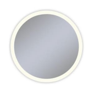 Vitality 40 in. 2700K Anodized Aluminum Frameless Round Mirror with Light Perimeter RYM0040CPFPD3