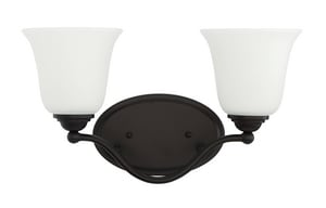 Park Harbor® Sedley 100W 2-Light Medium E-27 Incandescent Vanity Fixture in Oil Rubbed Bronze PHFVL1042ORB