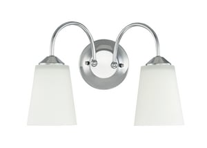 Park Harbor® Bay Creek 100W 2-Light Medium E-27 Incandescent Vanity Fixture in Polished Chrome PHFVL1032PC