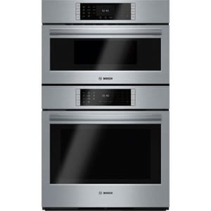 Bosch Benchmark® Series 29-3/4 in. Speed Combination Oven in Stainless Steel BHBLP752UC