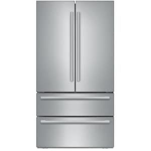 Bosch 800 Series 20.8 cf Freestanding French Door and Bottom Mount Freezer Refrigerator in Stainless Steel BB21CL81SNS