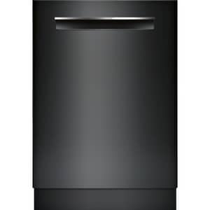 Bosch 42dB Pocket Handle Under-Counter Dishwasher in Black BSHPM78W56N