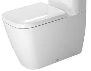 Duravit Happy D.2 1.6 gpf Elongated Floor Mount Toilet Bowl in White D2134090092