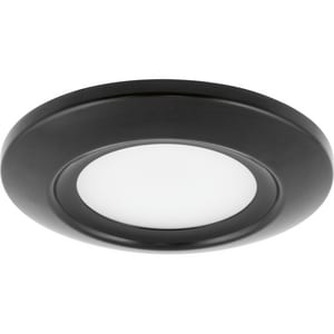 Recessed 12W 1-Light LED Surface Mount Fixture in Black PP81073130K9