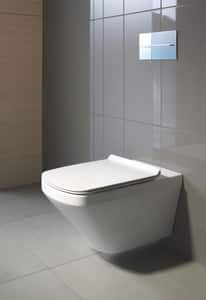 Duravit DuraStyle 1.6 gpf Elongated Wall Mount One Piece Toilet in White D2551090092