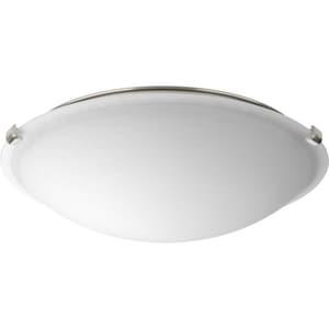 Progress Lighting Dome 16 in. 24W 120V 3000 Kelvin 1250 Lumens LED Flush Mount Ceiling Fixture in Brushed Nickel PP35005600930
