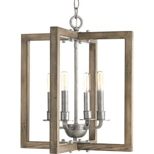 Progress Lighting Turnbury 16 in. 4-Light Candelabra E-12 Base Chandelier in Galvanized PP4760141