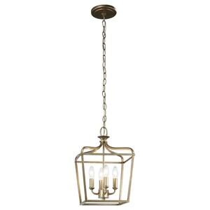 Minka-Lavery Laurel Estate 4-Light Pendant in Brio Gold M4445582