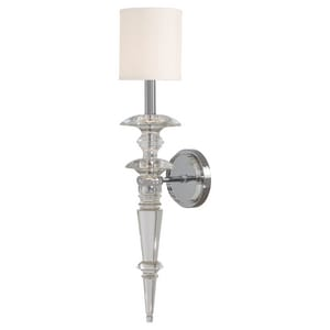 Metropolitan Kingswell™ 60W 1-Light Candelabra E-12 Base Wall Sconce in Polished Chrome MN6930177