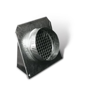 6 in. Wall Vent with Screen and Damper Galvanized Steel SHMSVHSDU