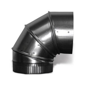 Lukjan Metal Products 6 in. 26 ga 90 Degree Duct Elbow SHMA926SBU