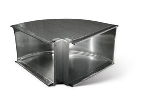 Lukjan Metal Products 10 x 8 in. 90 Degree Duct Elbow SHMTD9HSL10X