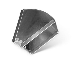 16 in. Horizontal Trunk Duct Angle with Slide Lock SHMTD4HSL16X