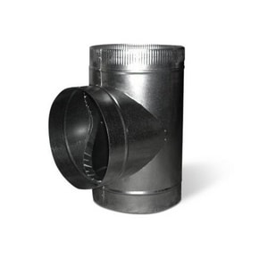 4 in. Duct Tee with Crimp SHMTT26P