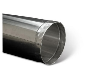 4 in. x 2 ft. Aluminum Round Duct Pipe SHMPAPK