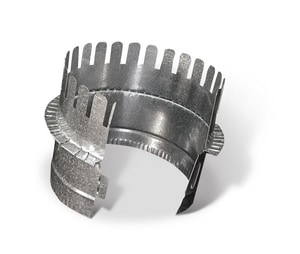 12 in. Galvanized Steel Starting Collar in Round Duct SHMCSTDB12