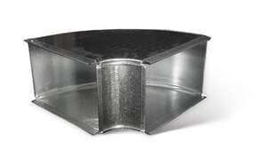 Lukjan Metal Products 8 x 8 in. 90 Degree Duct Elbow SHM9HXX