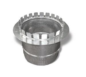 20 in. Galvanized Steel Starting Collar in Round Duct SHMCLR20