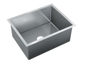 Just Manufacturing Zero Radius 23 x 18 in. No Hole Stainless Steel Single Bowl Undermount Kitchen Sink in No. 4 JJZRS1823M