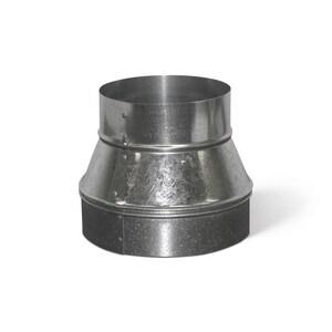 16 in. x 12 in. 26 ga Galvanized No-Crimp Duct Reducer SHMRNC2612