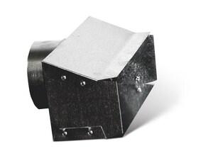 3 x 10 x 4 in. Galvanized Steel Range Hood Connector SHMRHCP