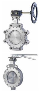 FNW HP Series Stainless Steel RPTFE Locking Lever Handle Butterfly Valve FNWHPA1LSTL