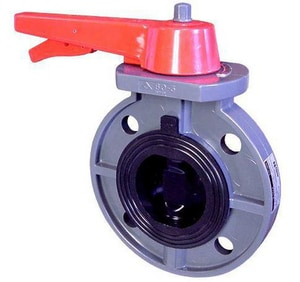 FNW 721 Series 5 in. PVC EPDM Lever Handle Butterfly Valve FNW721ES