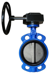 FNW® 731 Series 5 in. Cast Iron Buna-N Gear Operator Handle Butterfly Valve FNW731BGS at Pollardwater